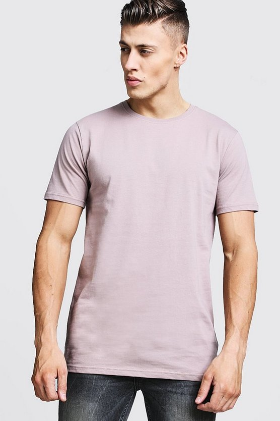 Bark Longline Fitted T-Shirt