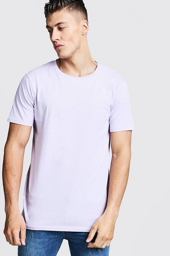 Lilac Longline Fitted T-Shirt