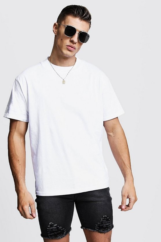 Loose Fit T-Shirt With Extended Neck