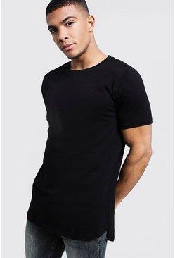 b832f487 Mens Longline T-Shirts, Shirts & Tops - boohooMAN UK