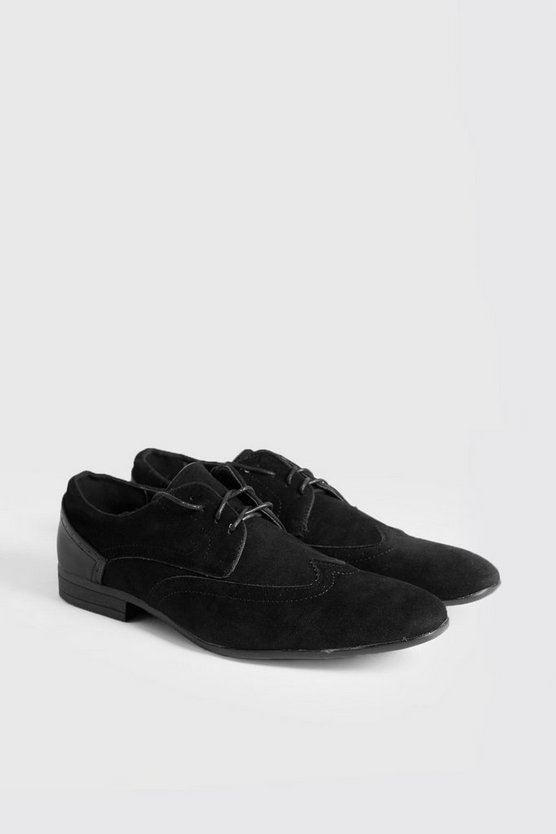 Suede Look Brogues