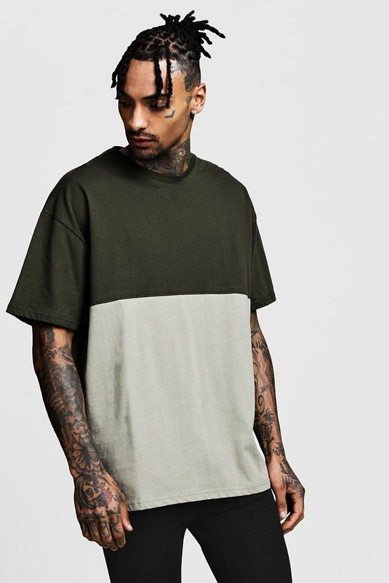 Oversized Colour Block Jersey T-Shirt