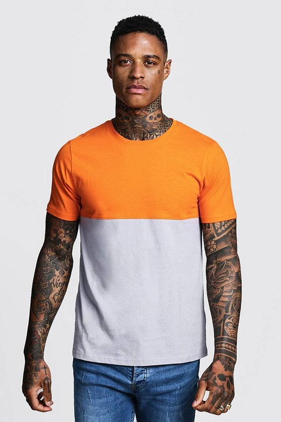 Regular Jersey Colour Block Tee