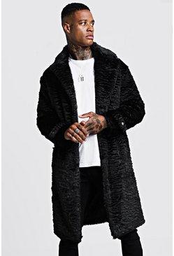 Black Luxe Faux Fur Overcoat