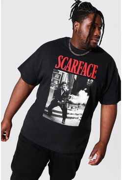 Black Plus Size Scarface License T-shirt