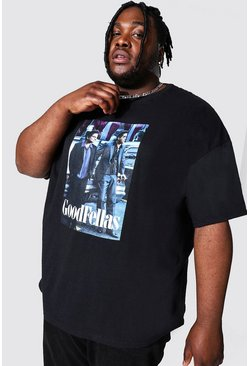 Black Plus Size Good Fellas License T-shirt