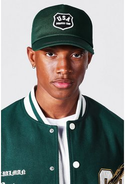 Green Varsity Usa Curve Peak Cap