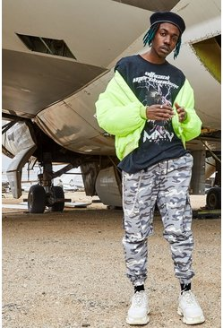 Mens Blue Camo Utility Pants