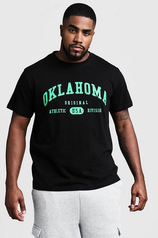 Big And Tall Oklahoma Print T-Shirt