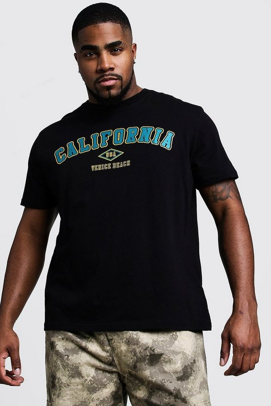 Big And Tall California Print T-Shirt