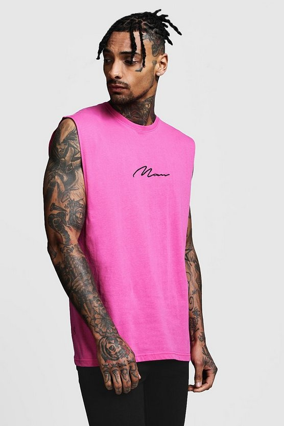MAN Signature Drop Armhole Tank