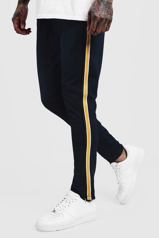 Skinny Fit Tricot Side Panel Joggers