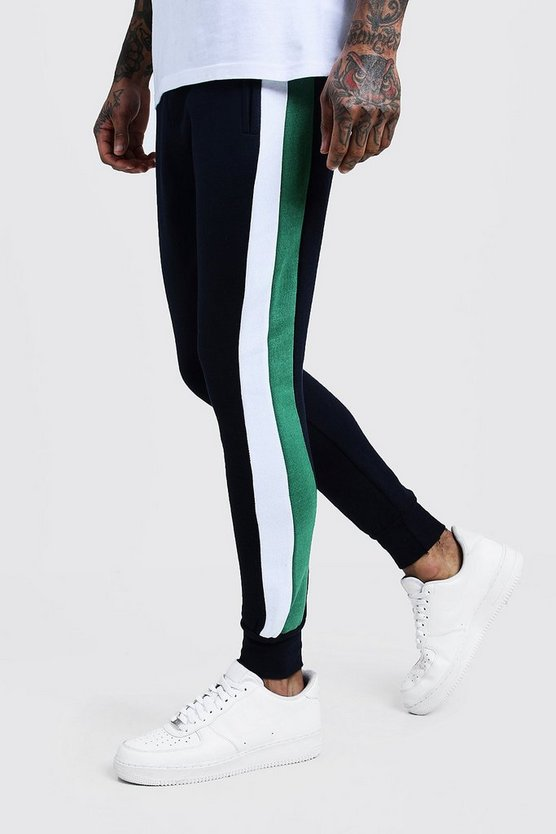 Slim Fit Side Panel Jersey Joggers