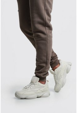 Mens Sand Mesh Detail Bubble Sneaker