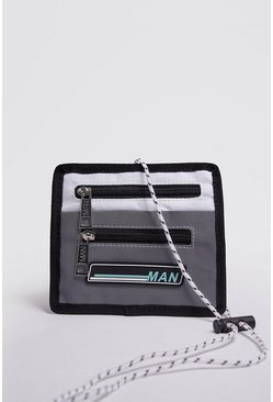 Mens White MAN Lanyard