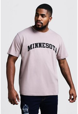 Mens Bark Big & Tall Minnesota Print T-Shirt