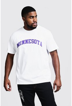 Big & Tall - T-shirt imprimé Minnesota, Blanc, Homme