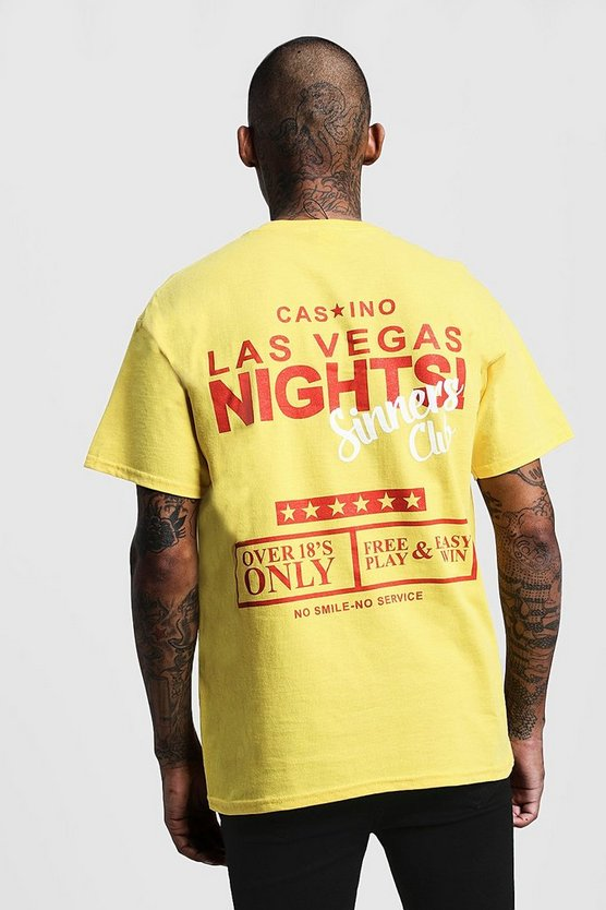 Overszied Casino Printed Jersey T-Shirt