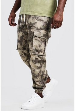 Mens Sand Big & Tall Skinny Fit Utility Jogger
