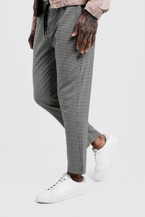 Mini Check Smart Jogger Trouser