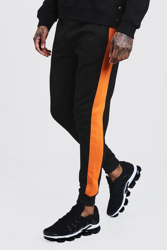 Skinny Fit Panelled Fleece Jogger