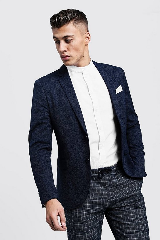 Skinny Fit Plain Smart Blazer