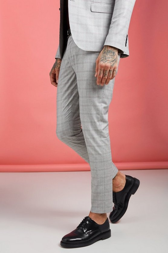 Jaspe Prince Of Wales Skinny Fit Trouser