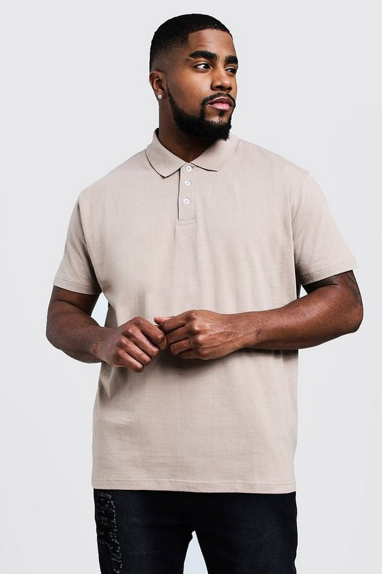 Taupe Big & Tall Short Sleeve Polo