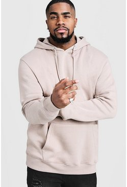 Mens Taupe Big & Tall Basic Over The Head Hoodie
