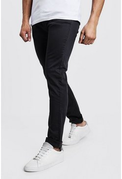 Mens Charcoal Slim Fit Stretch Chino Pants