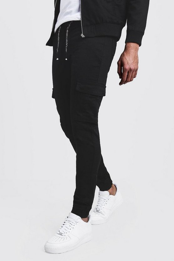 Slim Fit Cuffed Cargo Trouser