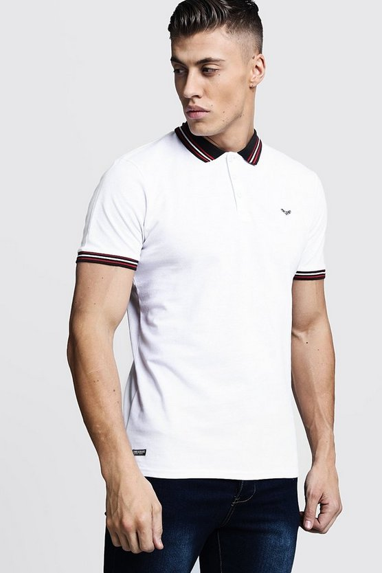 Pique Polo With Sports Contrast Tipping