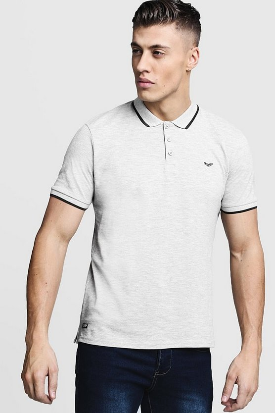 Pique Polo With Contrast Tipping