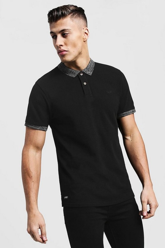 Pique Polo With Grindle Collar