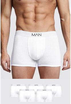 White 5 Pack MAN Trunks