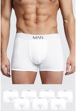 White 7 Pack MAN Trunks