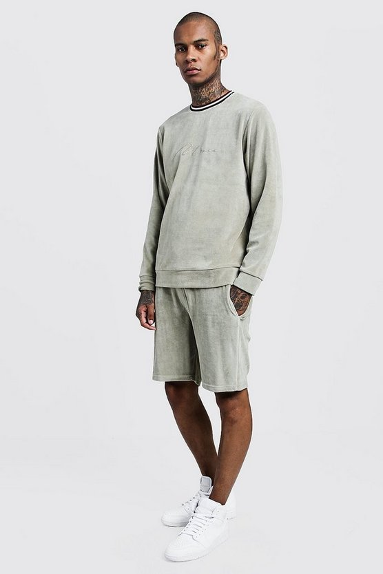 Velour MAN Signature Short Sweater Tracksuit