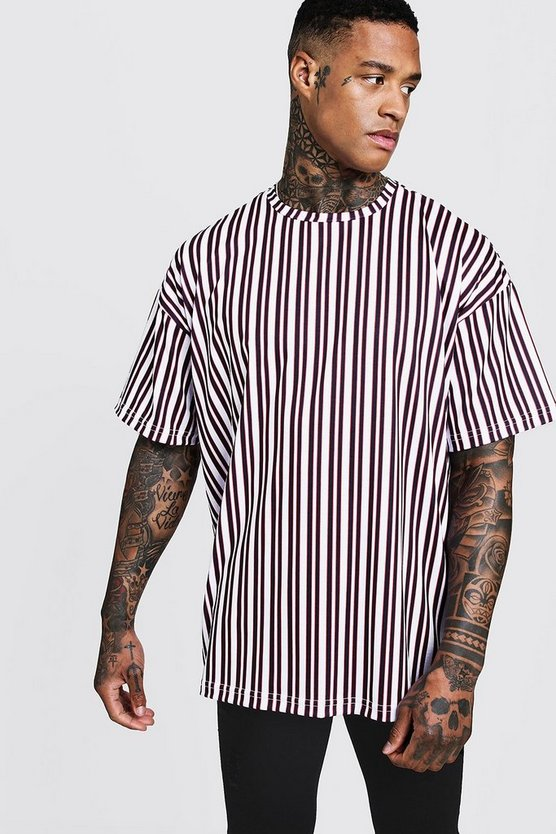 Oversized Vertical Stripe T-Shirt