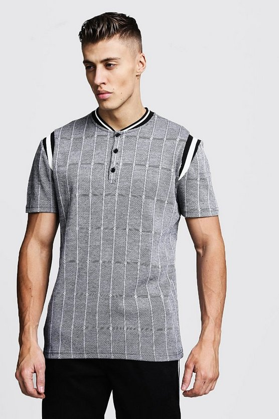 Jacquard Smart Polo With Bomber Neck