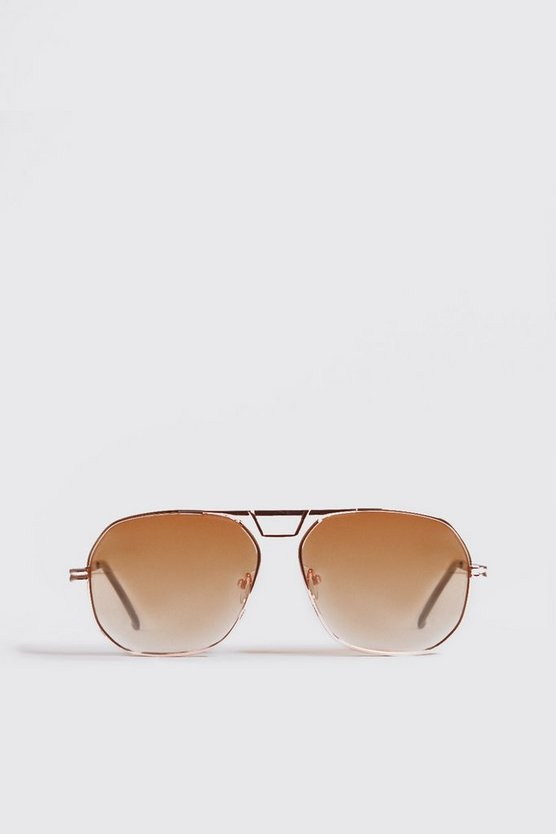Orange Tint Gold Frame Aviator