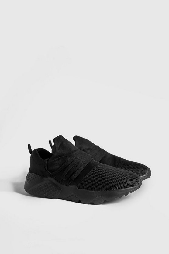 Triple Black Sports Mesh Trainers