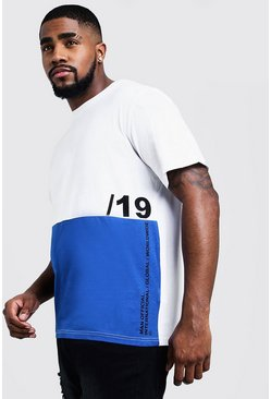big and tall t-shirt colorblock, Roi, Homme