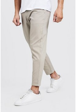 Mens Stone Slim Fit Cropped Chino Pants