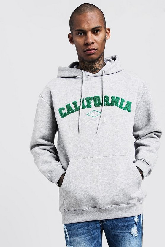 Loose Fit California Embroidered Hoodie