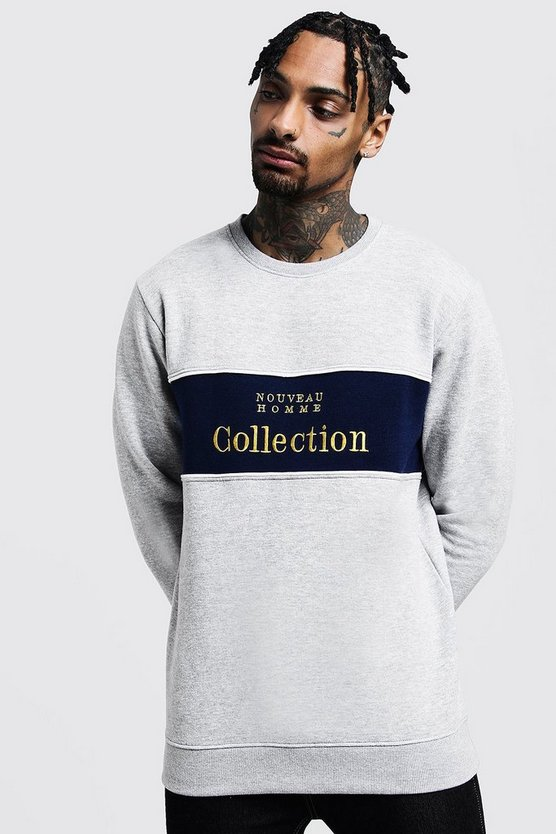 Chest Panelled 'Collection' Sweatshirt