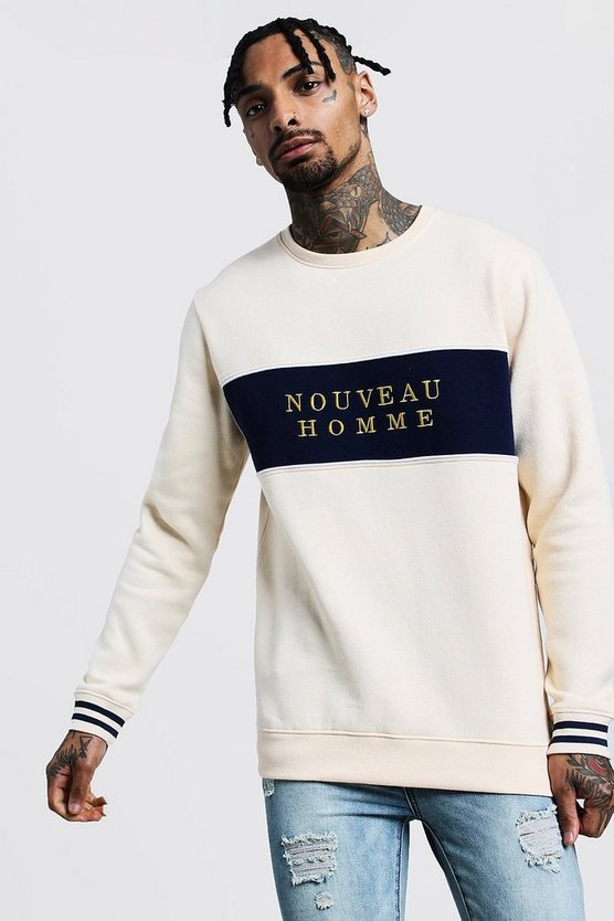 Nouveau Homme Colour Block Sweatshirt