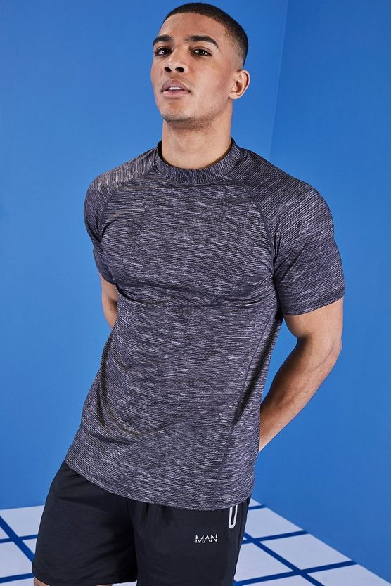 MAN Active Reflective Funnel Neck T-Shirt