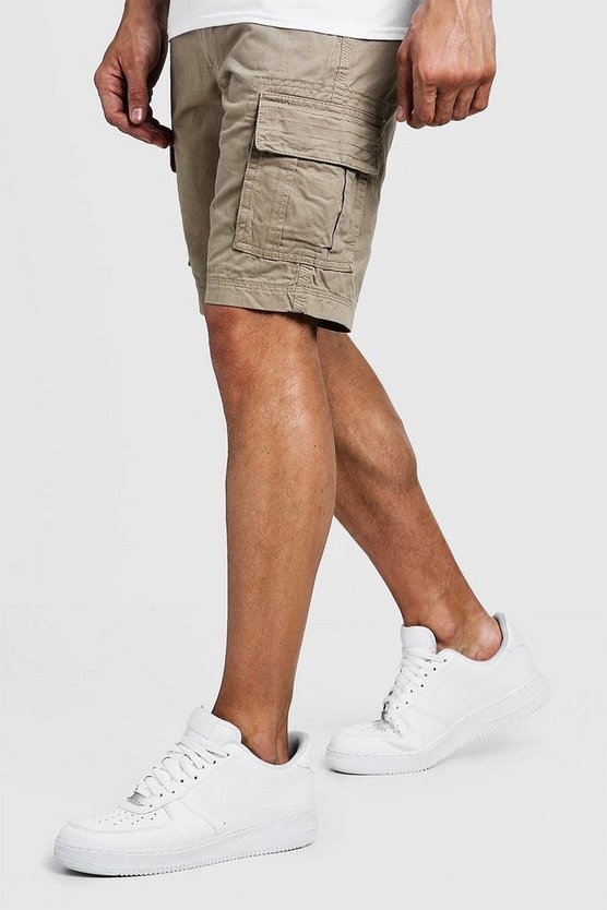 Slim Fit Cotton Cargo Short