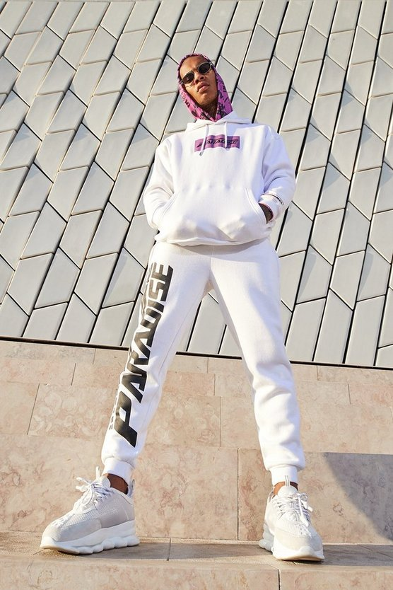 Paradise Print Hooded Tracksuit