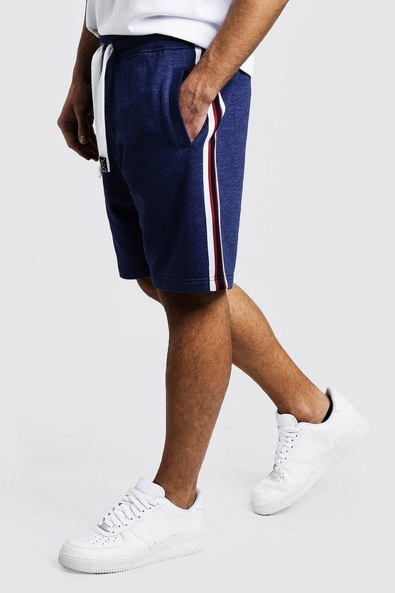 Tape Detail Jersey Shorts